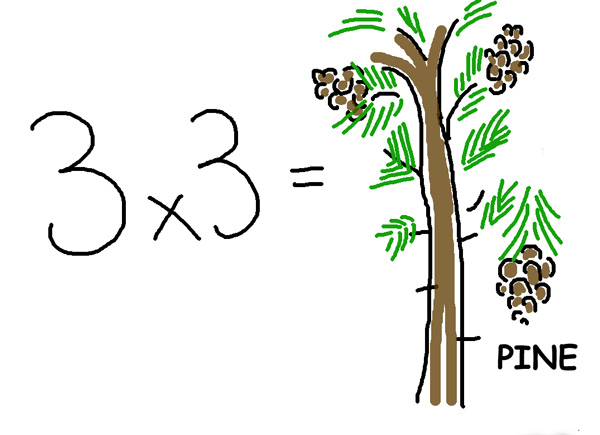 3x3Pineweb A shortcut to Times Tables