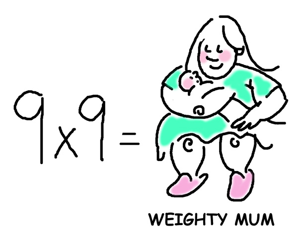 9x9weightymum A shortcut to Times Tables